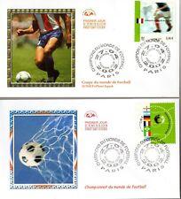 3483/4+ FDC 2  ENVELOPPES  1er JOUR CEF   CHAMPIONS DU MONDE DE FOOT BALL