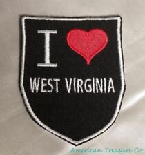 Embroidered Retro Vintage Style I Love West Virginia WV State Patch Iron On USA