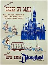 1955 Disneyland Mail Order Store Advertising Standup Sign Repro Gift Shop