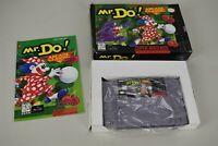 Vtg Super Nintendo Arcade Classic Mr. Do! SNES Game Original Box w/Manual