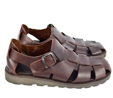 eb4b93a1cec Bass Mens Dark Brown Leather Fisherman Sandals Walking Shoes Sz 13M