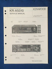 KENWOOD KR-A5010 RECEIVER SERVICE MANUAL ORIGINAL FACTORY ISSUE GOOD CONDITION