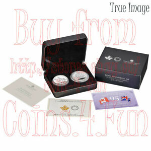 2021 Royal Celebration HM Queen Elizabeth II's 95th Birthday Silver Two-Coin Set
