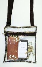 Clear Cross Body Bag Thick PVC Music Festival Sports Concert Shoulder Messenger