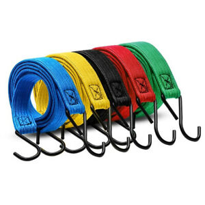 Motorcycle Bicycle Cargo Racks Tied Rubber Straps Rope Band Hook^ZY