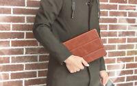 "ICARER Echt Leder Flip Case Smart Cover Schutzhülle für iPad Pro 11"" 2020 Braun"