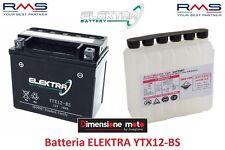 """Batteria ELEKTRA YTX12-BS 12V-10Ah """"MF"""" per HONDA Quad TRX 250 Recon dal 1997"""