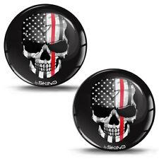3D Silikon Aufkleber Schädel Totenkopf Skull Amerika USA Sticker Auto Motorrad