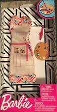 Barbie Fashions Complete Outfit Artist Smock / Dress Paint Pallette & Brush Nib