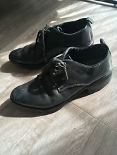 Carol Christian Poell Unisex Blue Grey Lace up Shoes Size 36