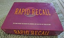 Vintage 1993 Edition RAPID RECALL Party Game by Western-100% COMPLETE`