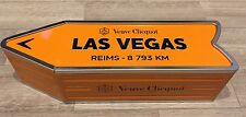 Veuve Clicquot Arrow Tin LAS VEGAS Reims Champagne Journey Arrow Street Sign
