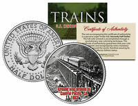 CENTRAL PACIFIC GROUNDBREAKING 1863 *Famous Trains* JFK Half Dollar U.S. Coin