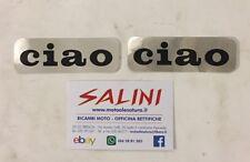 Adesivo Scritte Piaggio Ciao Nera in Crystal ( 8,5cm x 2,7cm )