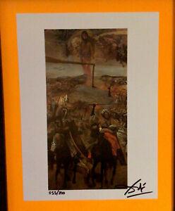 Salvador Dali Original Hand Signed Lithograph - 1974, COA With New Frame