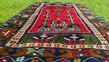 "Genuine 1950-1960s Vintage 2'6×4""8"" Wool Pile Yahyali  Prayer Rug Turkey"