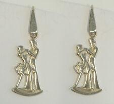 Orecchini pendenti con BALLERINI in Argento 925 - pendente con amo - ballo -