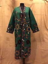 Vintage Kuchi Afghan Caftan, Wool Robe, Ethnic Tribal handmade kaftan