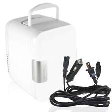 Zone Tech Portable Mini Fridge Cooler Warmer Car Boat Home Office AC DC White