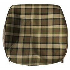 Westfalia Late Bay Front Seat Open Back Cover in Beige Plaid 1975-1979 C9253BE