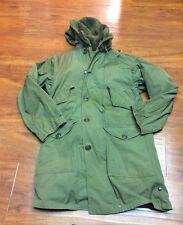RARE WW2 U.S. ARMY WINTER PARKA - Overcoat Parka Type Pile Liner - Sz. S