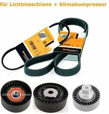 Conti Keilrippenriemen 6PK1538 5PK865 +  Umlenkrolle Spannrollen Set für E46 E39