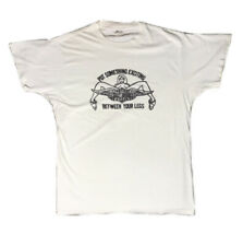 Classic 70's Style Harley Davidson Print White Vintage Single Stitch T-shirt XL