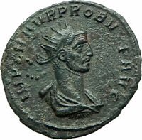 PROBUS 280AD Authentic Ancient Roman Coin Sol Sun God Horse Quadriga i76058