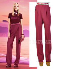 $950 GUCCI PANTS RASPBERRY HIGH WAISTED TROUSERS sz IT 42 US 6