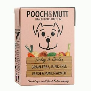 Pooch & Mutt Chicken & Turkey Wet Dog Food Carton Grain Free Health Food 1x375g