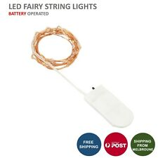 1X 20LED Battery Operated Copper Wire Fairy String Lights Xmas Party Wedding 2M