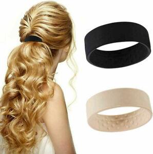 1PCS/2PCS Wide Pony Band Clip Wide Pony Hair Band O Hair Tie Band Women Fashion