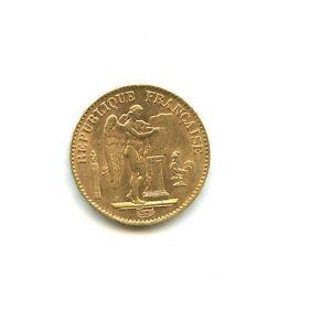 20 francs OR Génie 1892 A n°E2085