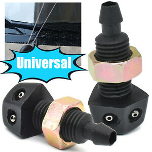 2pcs Front Windscreen Washer Water Jet Spray Nozzle For Toyota Ford Skoda Dodge