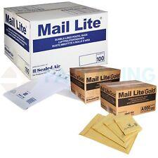 MAIL LITE / LITES PADDED BAGS ENVELOPES 'ALL SIZES' +24H COURIER - WHITE & GOLD