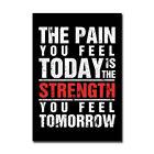 Motivational Workout Poster Print Gym Fitness Art Picture Office Dorm Decor