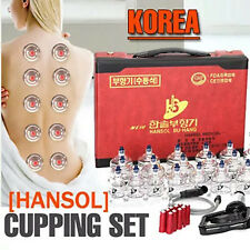 HANSOL Professional Cupping Therapy Cup Vacuum Massage Cupping Set 19 Cups SET