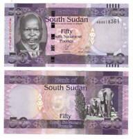 SOUTH SUDAN 50 Pounds ND(2011) P-9 UNC Banknote