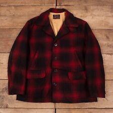 "Mens Vintage Red Head Drybak 60s Buffalo Mackinaw Coat Jacket Large 44"" R14216"