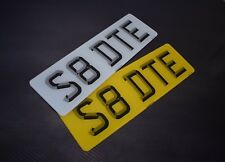 Pair 3D Short Small 5 digit Road Legal Number Plate MOT Compliant - FREE POSTAGE