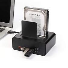 Dual USB 3.0 Festplatten Dockingstation für 2,5/ 3,5 Zoll SSD HDD SATA
