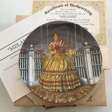 Gone With The Wind Olivia De Haviland Melanie Collector Plate Original Box Coa