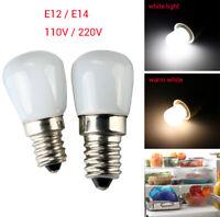 110/220V E14/E12 2W 2835SMD LED Refrigerator Fridge Freezer Lamp Light Bulb