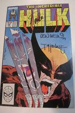 Stan Lee Len Wein Todd McFarlane Signed Incredible Hulk #340 Wolverine JSA COA