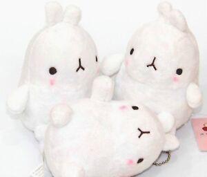 Molang podgy potato rabbit cute kawaii kitsch 12cm plush toy with chain