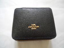 Coach Leather Jewelry Box Black *new*