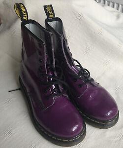 Patent Purple Doc Dr Martens Boots Size 4