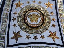 Italian Silk Devore 100%, 'Versace' (1.15 metre piece) scarf, wall hanging