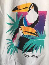 Vintage 80's Key West Lightweight Pullover, Xl, 100% Cotton, Toucans