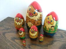 Nesting dolls/7 dwarfs/Made in USSR